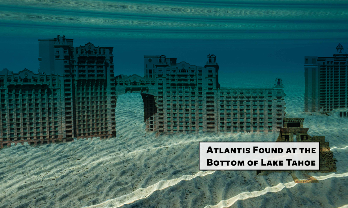 "The underwater ""ruins"" of Atlantis discovered on the Nevada side of Lake Tahoe."