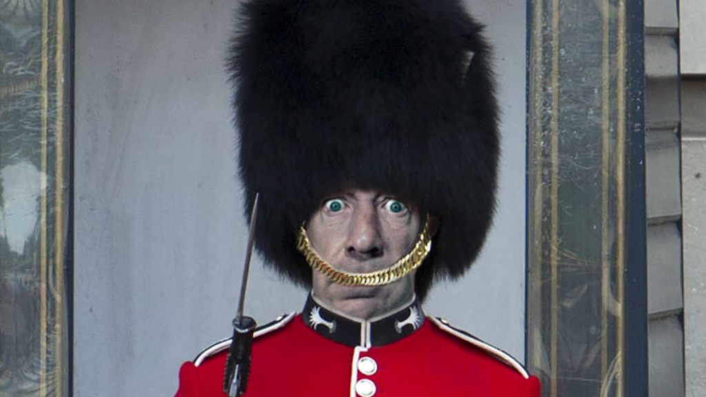 Former Sex Pistols frontman Johnny Rotten was impersonating one the Queen Elizabeth's guards, according to area resident Jennifer Johnson.