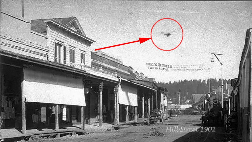 A recently discovered photograph seems to show aviation innovator Lyman Gilmore flying over Grass Valley, CA in 1902.
