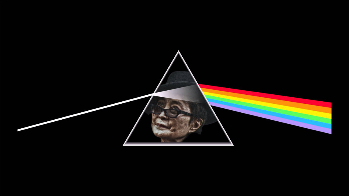The cover of Yoko Ono's Dark Side of Yoko Ono.