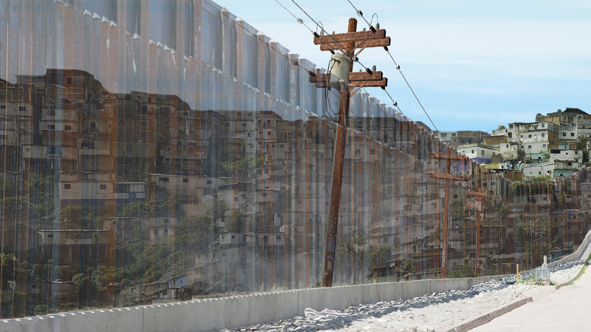"A source close to President Trump said that he would be willing to settle for a ""Holographic Wall"" along the Mexican border."