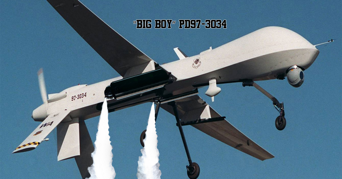 """BIG Boy"" PD97-3034 Chemtrail Drone. Source: US Military."